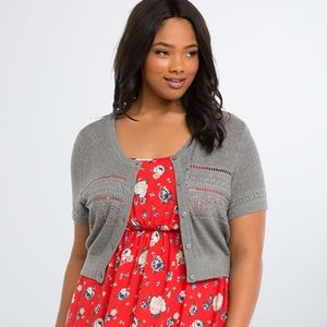 Torrid Open Stitch Shrug Plus Size 1